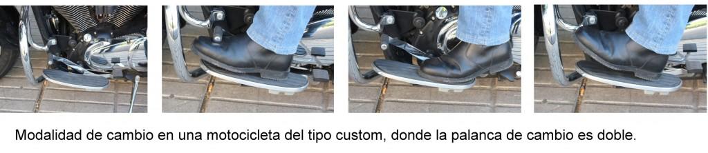 Modalidad de cambio en moto custom