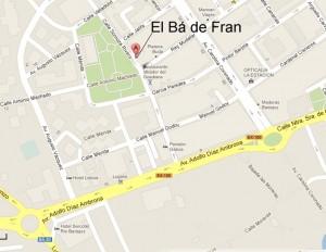Localización del Bá de Fran