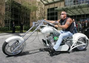 Paul Teutul, en la presentación de la motocicleta
