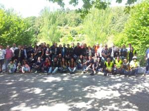 Grupo de moteros por la Sierra de Portalegre