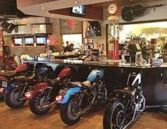 Interior biker bar